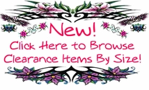 New! Click Here to Browse Clearance & Closeouts by Size!!