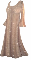 Beautiful Golden Tan & Gold Glittery Plus Size & Supersize Customizable Dresses, Shirts, Pants, Skirts  or Jackets Lg to 9x