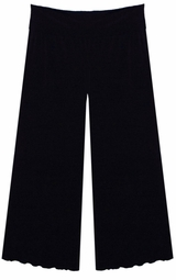 Black Wide Leg Palazzo Pants with Elastic Waist in Slinky, Cotton, or Velvet! Plus Size & Supersize XL 0x 1x 2x 3x 4x 5x 6x 7x 8x