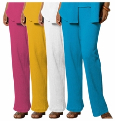 FINAL SALE! Yellow Raspberry White or Turquoise Plus-Size Comfy Knit Gauze Pants 4x