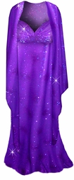 Beautiful Purple Glitter 2 Piece  Plus Size SuperSize Princess Seam Dress Set  0x 1x 2x 3x 4x 5x 6x 7x 8x