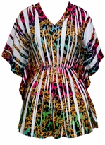SALE! Pretty Colorful Plus Size Sublimation Slinky Tunic Top 4x 5x