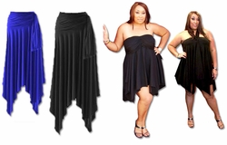 Sexy Slinky Handkerchief  High-Low Dresses Tops & Skirts All Colors! Plus Size & Supersize 1x 2x 3x 4x 5x 6x 7x 8x 9x