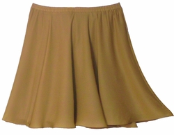 SALE! Tan Plus Size Georgette Full Skirt 30w 32w 34w 3x 4x 5x 6x