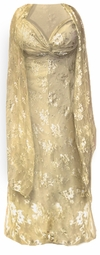 Stunning Beige & Silver Lace 2 Piece Plus Size SuperSize Princess Seam Dress Set 0x 1x 2x 3x 4x 5x 6x 7x 8x