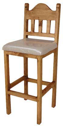 Rustico Rustic Bar Stool W/ Cushion