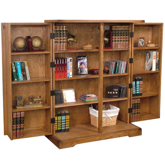 Arizona Rustic Oak Folding CD/DVD Cabinet