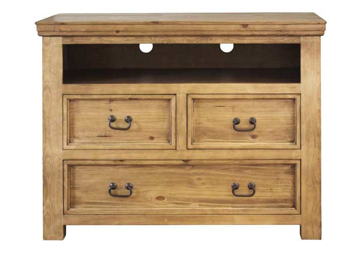 "Sierra Rustic Media Chest 39"" Tall"