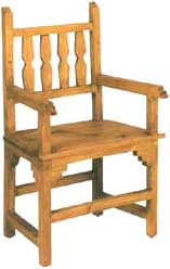 Nuevo Mexico Pine Wood Arm Chair
