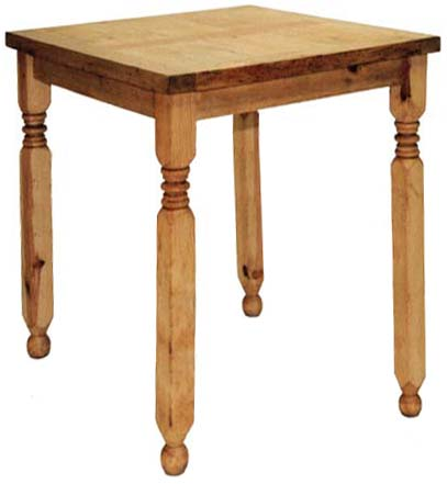 San Carlos Pine Wood Bistro Table