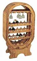 Cava Pine Wood Wine Rack