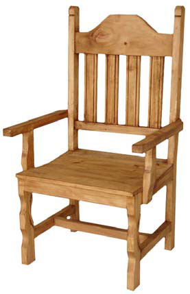 Rustic Pine Wood Arm Chair