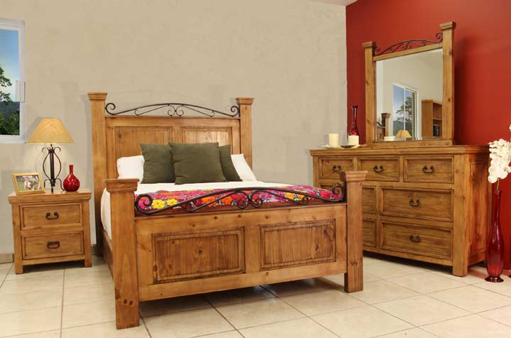 Sierra Rustic Bedroom Furniture Set