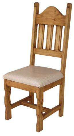 Rustic Dining Chair with Cushion