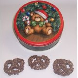1 Lb. Chocolate Large Pretzels with Topping in a Tin