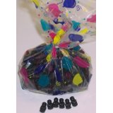 1 Pound Black Licorice Gummie Bears in a Decorative Bag