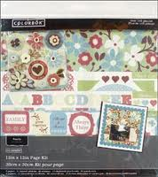 Family Scrapbook Page Kit - Discontinued