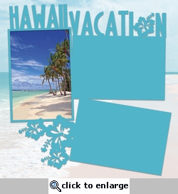 Big Island: Hawaiian Vacation Panorama 2 Piece Laser Die Cut Kit