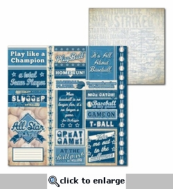 All Baseball: Play Ball 12 x 12 Double-Sided Cardstock