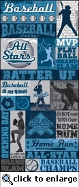 All Baseball: All Baseball 5 x 12 Sticker Sheet