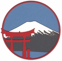 Mt. Fuji Circle Laser Die Cut