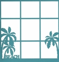 Beach 12 x 12  Photo Overlay Laser Die Cut