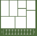 Football Field 12 x 12 Overlay Laser Die Cut