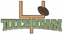 Football: Touchdown Laser Die Cut