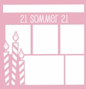 Custom Birthday Candles 12 x 12 Overlay Laser Die Cut