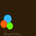 Custom Birthday Balloons 12 x 12 Paper