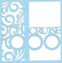Cruise: Porthole And Waves 12 x 12 Overlay Laser Die Cut