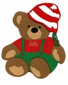 Custom Christmas Bear Laser Die Cut