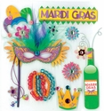 MARDI GRAS CELEBRATION DIMENSIONAL STICKER �