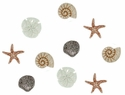 Glitter Seashells At The Seashore Buttons