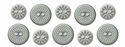Winter Frost: Fabric Buttons
