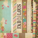 Fabulous: 2 x 12 Border & 4 x 12 Title Strip Elements 12 x 12 Double-Sided Paper