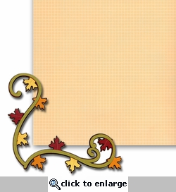 Fall Swirl Corner 2 Piece Laser Die Cut Kit