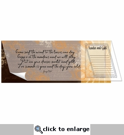 Scarlet & Gold Vellum and Cardstock Overlay