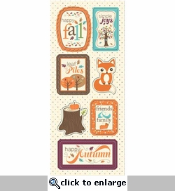 Happy Harvest: Happy Fall Chipboard Sticker Sheet