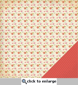 Ashtyn: Small Floral 12 x 12 Double-Sided Paper
