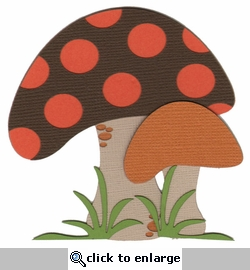 Mushrooms Laser Die Cut