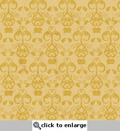 Autumn Splendor: Harvest Ornament Gold 12 x 12 Double-Sided Glitter Paper