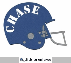 Football Helmet Custom Laser Die Cut