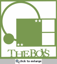 Family: The Boys 12 x 12 Overlay Laser Die Cut-<font color=red> <b>we &hearts; this</b></font>