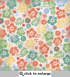 Boardwalk:Spring Break Floral/Orange Basket 12 x 12 Double-Sided Paper