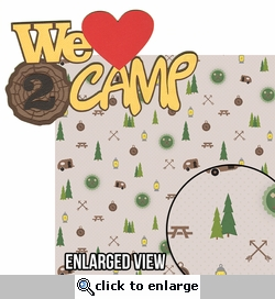 Under The Stars: Love 2 Camp 2 Piece Laser Die Cut Kit