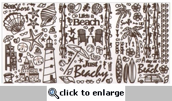 New Scrapbooking Dazzles: Beach Scrapbooking Dazzles- Brown 12 x 12