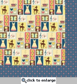 Audrey: Pictures/Planner 12 x 12 Double-Sided Paper