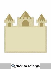 Beach Days: Sandcastle 12 x 12 Die Cut