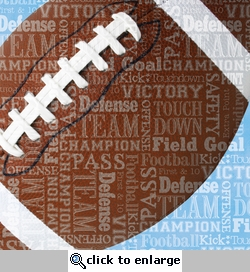Sports Typography: Football 12 x 12 Paper
